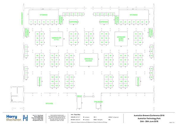 Australian Brewers Conference 2018 Floor Plan